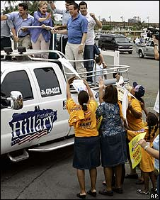 Hillary Clinton campaigns in Catano, Puerto Rico, on 31 May