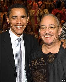 Barack Obama (left) with the Rev Jeremiah Wright (undated picture from 2005)