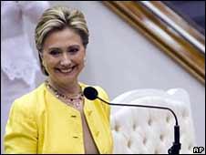 Hillary Clinton campaigning in San Juan, Puerto Rico, 31 May 2008