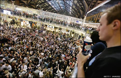 Party on Liverpool Street concourse