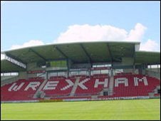 Stand at Wrexham FC