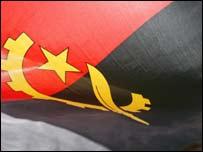 The flag of Angola