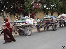 Refugees flee Mogadishu