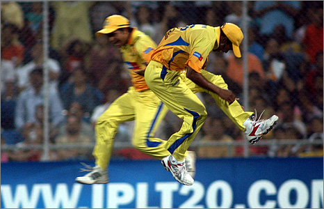 Two Chennai players in action in the final