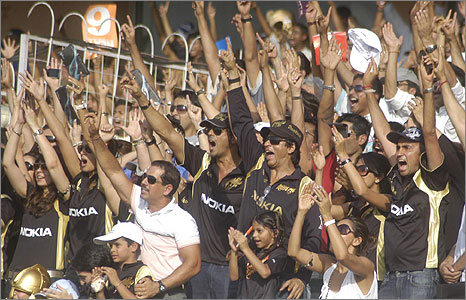 Supporters at IPL final