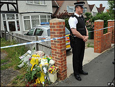 The house in Carshalton where the incident occurred