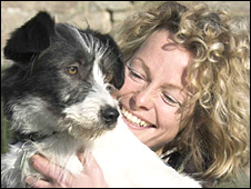 Kate Humble and Badger