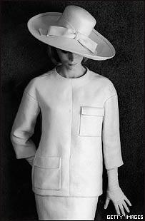 Modelo de Saint Laurent, 1964, Getty Images
