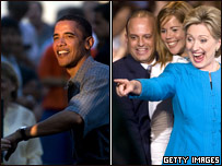 Barak Obama y Hilary Clinton