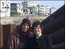 Aisha and Yael in Gaza
