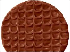 A chocolate digestive