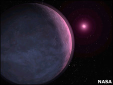 Planet orbiting brown dwarf (Nasa)