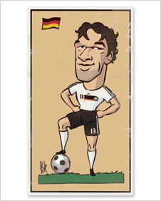 A cartoon of Michael Ballack