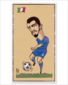 A cartoon of Gennaro Gattuso