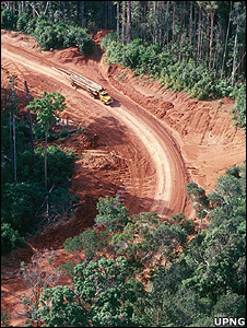 Logging truck carrying timber (Image: University of Papua New Guinea)