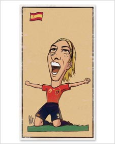 A cartoon of Fernando Torres