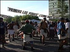 A protest over tortilla price rises