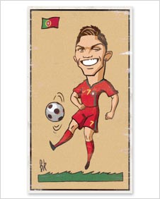 A cartoon of Cristiano Ronaldo