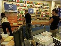 Preparaciones en la sede de la FAO
