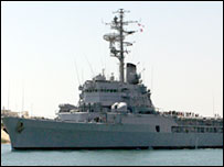 سفينة حربية فرنسية