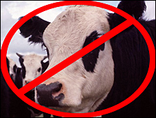 Banned cow
