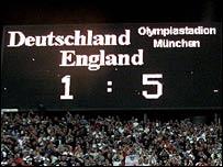 Munich stadium scoreboard