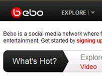 Bebo screenshot