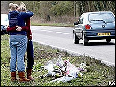 The scene of a fatal crash in the Cotswolds