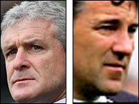 Mark Hughes and Dean Saunders