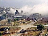 Israeli attack on Yasser Arafat's compound, May 2002