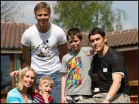 Gareth Barry and Martin Laursen at Acorns