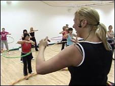 Hula hoop class in Cowdenbeath