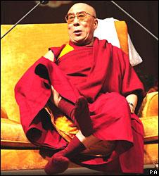 Dalai Lama in Nottingham, England, on 24 May 2008
