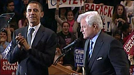 Barack Obama and Edward Kennedy