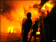 Riots in Toulouse in 2005