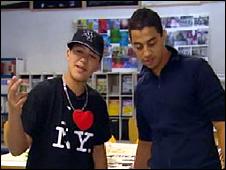 Yassine and his classmate, Massinissa