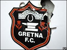 Damaged Gretna logo