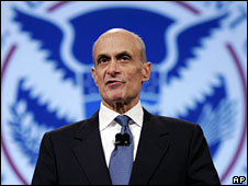 US Homeland Security Secretary Michael Chertoff, file pic