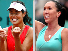 Ana Ivanovic and fellow Serbian Jelena Jankovic