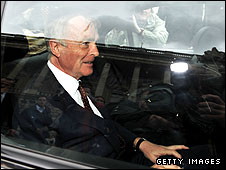 Max Mosley after the FIA meeting on Tuesday