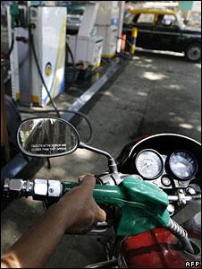 A petrol pump in Delhi