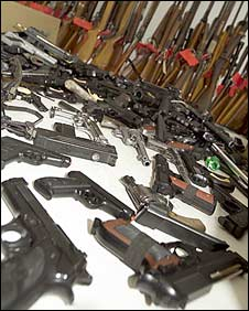 Seized guns