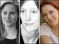 Lauren Groff, Joanna Kavenna (image (c) David Fisher) and Lauren Liebenberg