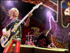 Screen shot from Guitar Hero
