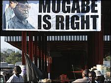 Campaign poster of Robert Mugabe
