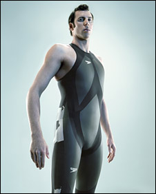 Model wearing new Speedo swimsuit; pic courtesy Speedo
