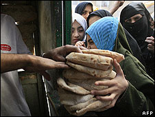 Egyptian bread queue