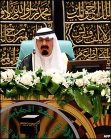 King Abdullah at Mecca conference