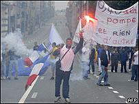 Protesta de pescadores en Bruselas (04/05/08)