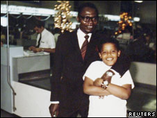 Obama and his late father